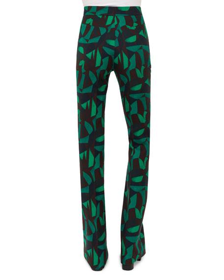 Farid Garden-Print Pants, Green