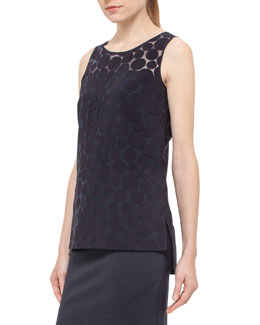 Punto Dot Shell Tank, Navy