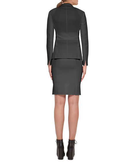 Intuition Button-Front Jacket, Black