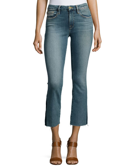FRAME Le Crop Mini Boot-Cut Gusset Jeans, Austin
