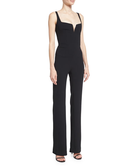Sleeveless Corset Jumpsuit, Black