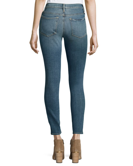 Le High Distressed Skinny Jeans, Navy Yard