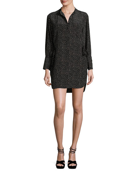 GREY by Jason Wu Long-Sleeve Polka-Dot Shift Dress,