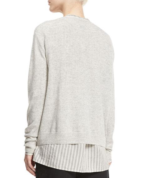 Vince Linen Cashmere V Neck Sweater