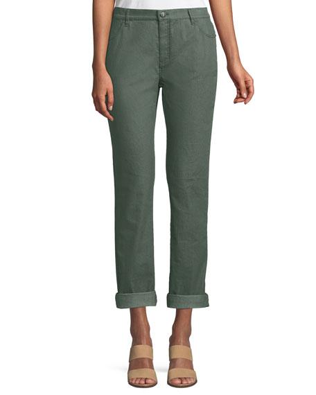 Thompson Bella Denim Slim-Leg Jean, Bottle Green