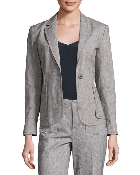 Tweed Prep School Blazer, Gray