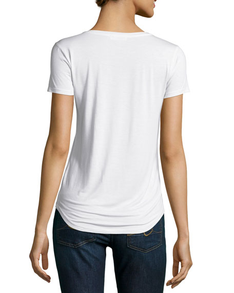 Lynnea Pocket Tee, White