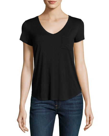 Lynnea Pocket Tee, Black