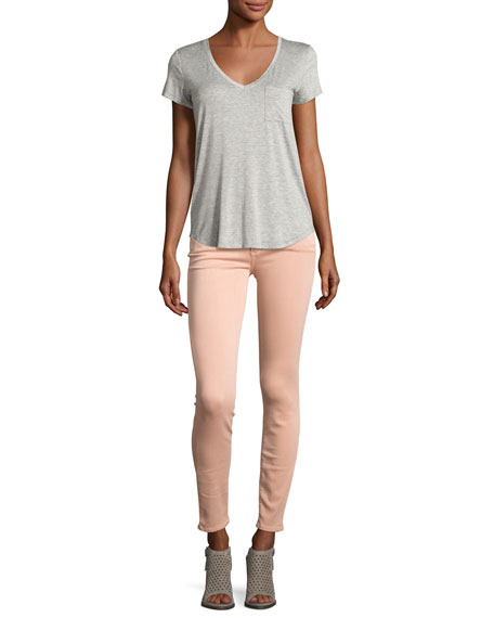 Verdugo Ankle Skinny Jeans, Faded Petal Pink