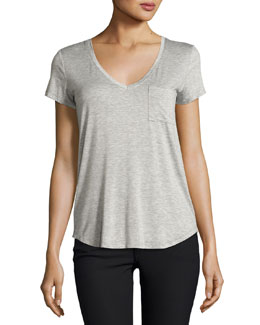 Lynnea Pocket Tee, Gray