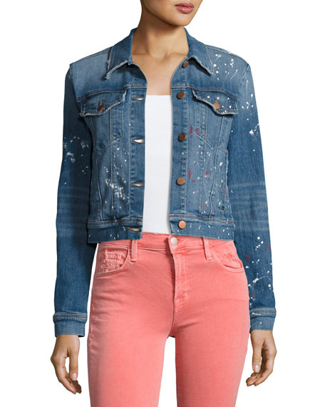 J Brand Harlow Denim Trucker Jacket, Light Blue