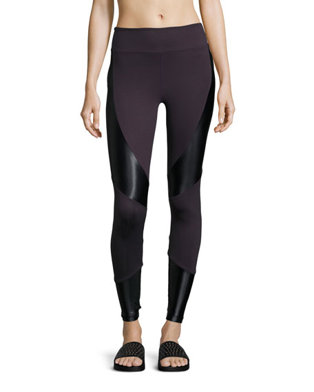 Forge High-Rise Athletic Leggings, Purple/Black