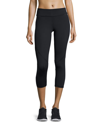 Captain Cropped Leggings/Running Tights, Black