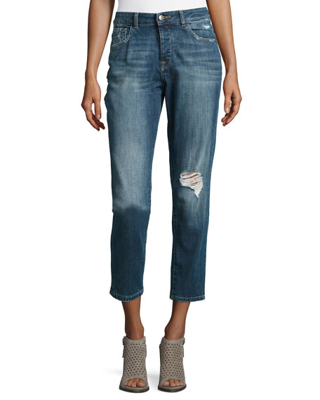 DL 1961 Goldie High-Rise Tapered Jeans, Morgan