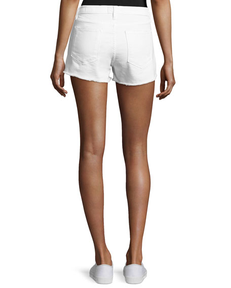 Le Cut Off Denim Shorts, Blanc Taffs