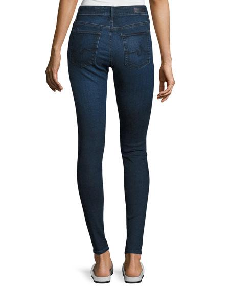 The Farrah High-Rise Skinny Jeans, Blue