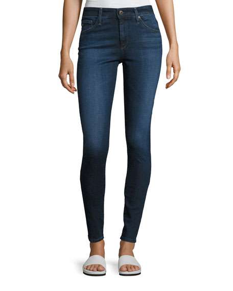 AG The Farrah High-Rise Skinny Jeans, Blue