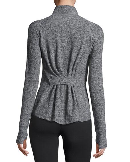 Eat Sleep & Re-Pleat Space-Dye Athletic Jacket