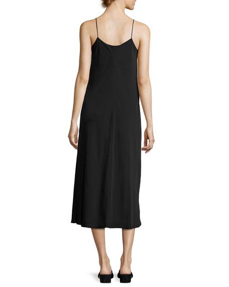 Bias-Cut Midi Slip Dress
