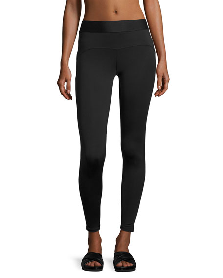 Heroine Sport Studio Mesh-Trim Performance Leggings, Black