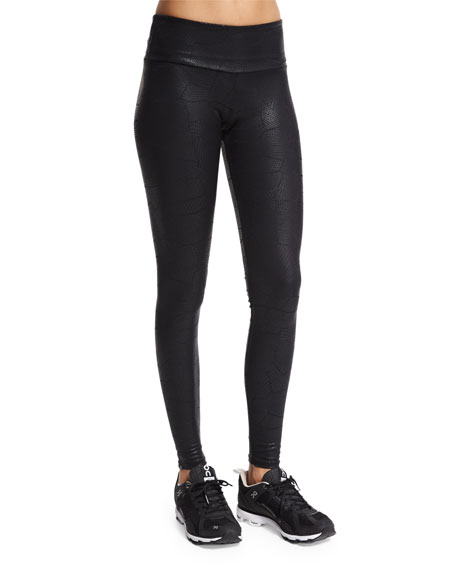 Embossed Long Sport Leggings