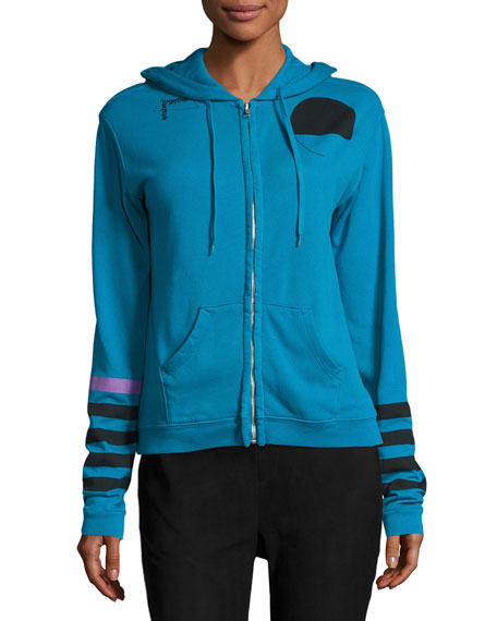 Super Woman Zip-Front Hoodie, Blue