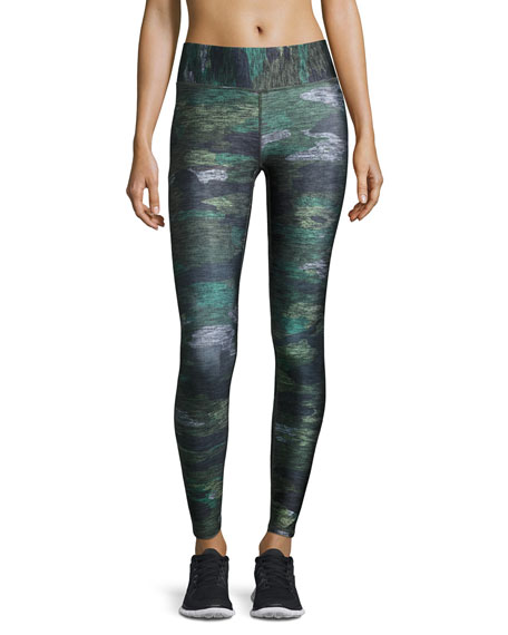 Terez Tall Band Heathered Camo Performance Leggings, Multicolor