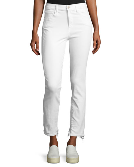W3 High-Rise Straight Authentic Crop Jeans, Beacon