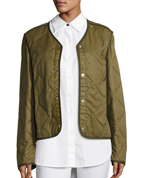 Rag & Bone Quilted Forest Liner Jacket, Olive : quilted liner - Adamdwight.com