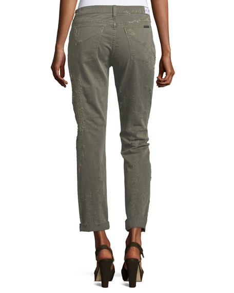 Stellar Riley Cropped Easy Slim Jeans, Gray/Black