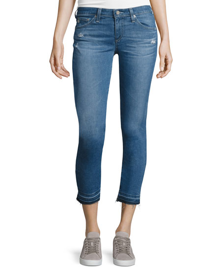 AG The Stilt Raw-Edge Cropped Jeans, 21 Years