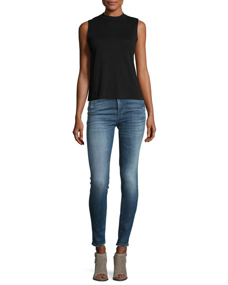 Carolina Super High-Rise Skinny Jeans, Indigo