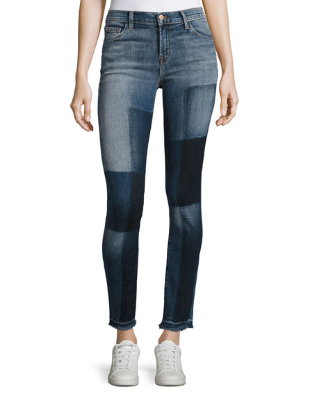 811 Mid-Rise Skinny Patchwork Jeans, Reunion