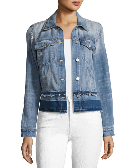 J Brand Harlow Denim Jacket with Released Hem,