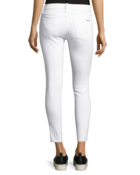 Nico Mid-Rise Skinny Ankle Jeans, White