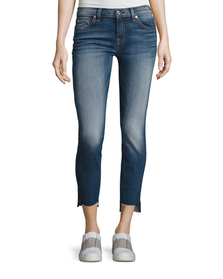 7 For All Mankind Ankle Skinny Jeans with