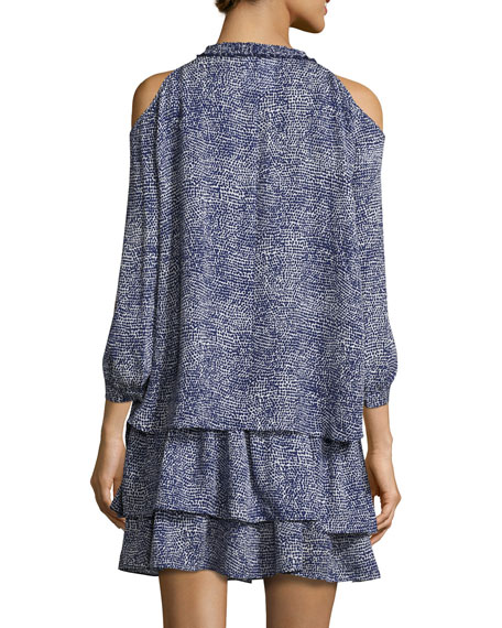 Silk 2-in-1 Abstract-Print Dress