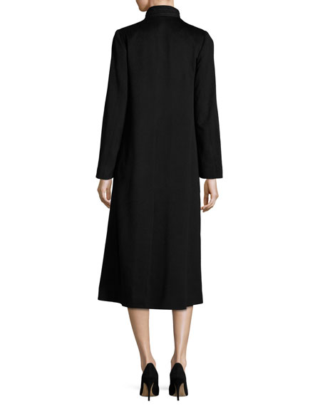 Long Wool Coat, Black