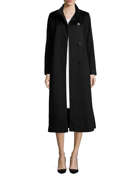 Long Wool Coat, Black