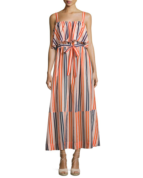 Diane von Furstenberg Colorblock Popover Prairie Dress,