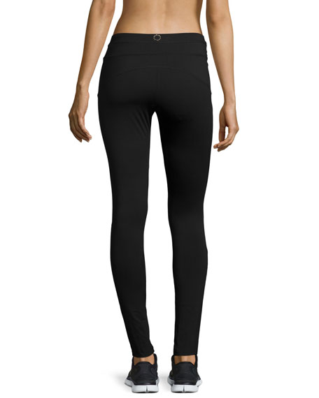 Bicknell Leggings W/Mesh Inset, Black