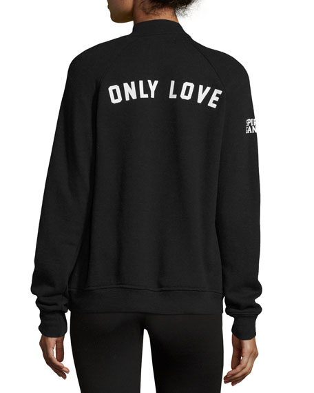 Only Love Fleece Logo Hoodie, Black