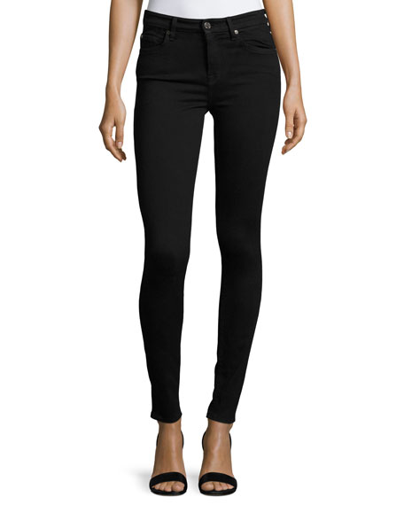 High-Waist Skinny Jeans, Slim Illusion Luxe Black