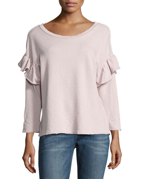 Current/Elliott The Ruffle Sweatshirt, Lilac