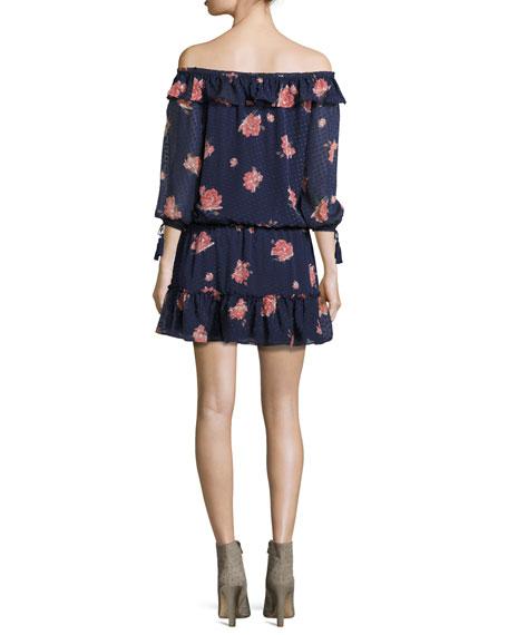 Luvenia Floral-Print Silk Dress