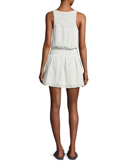 Lawska Sleeveless Silk Dress, White