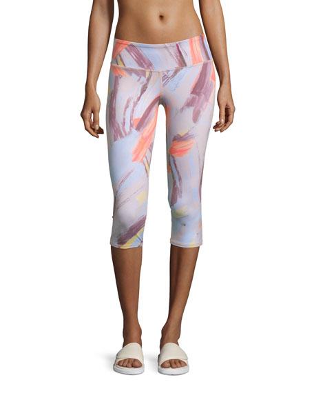 Alo Yoga Airbrush Capri Sport Leggings, Modernist Multi
