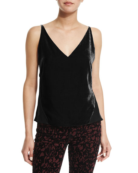 Lucy V-Neck Camisole, Black
