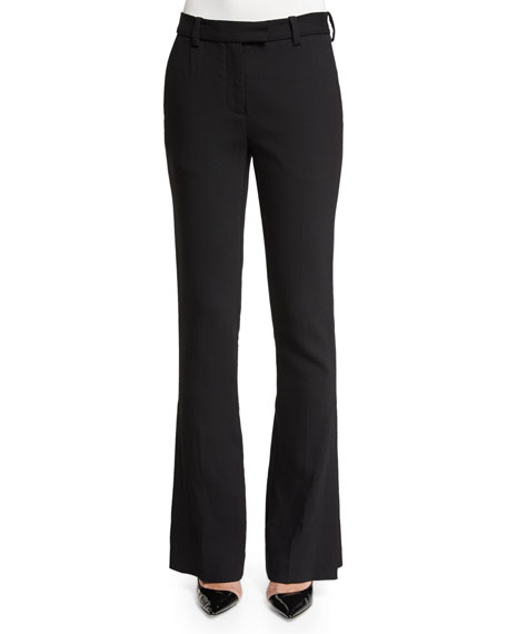 Slimming Side-Slit Pants, Black