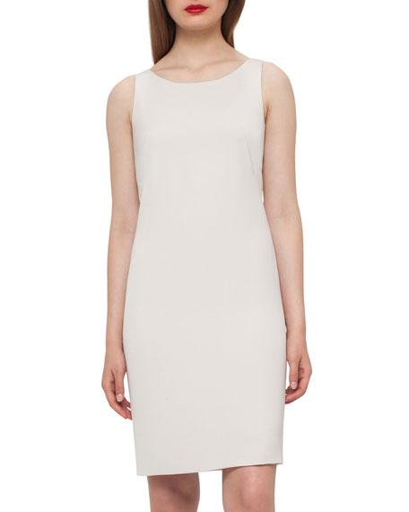 Silk Crepe Shift Dress